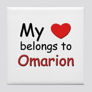 My heart belongs to omarion Tile Coaster