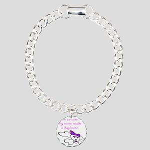 duplicate_pink Charm Bracelet, One Charm