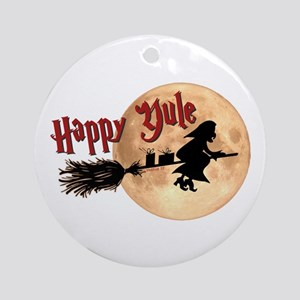 Happy Yule Ornament (Round)