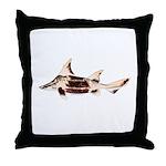 Caribbean Roughshark shark Throw Pillow