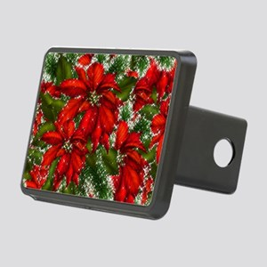 SPARKLING POINSETTIAS Rectangular Hitch Cover