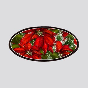 SPARKLING POINSETTIAS Patch