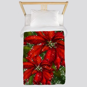SPARKLING POINSETTIAS Twin Duvet