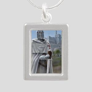 templar citadel 1 Silver Portrait Necklace