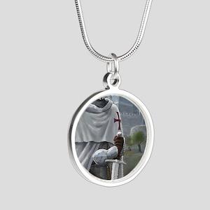 templar citadel 1 Silver Round Necklace
