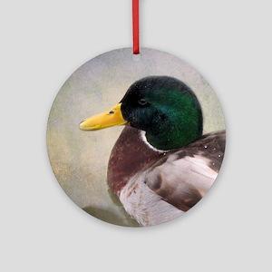 Mallard Drake Round Ornament