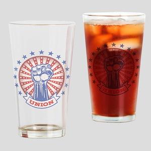 Union Fist -817 Drinking Glass
