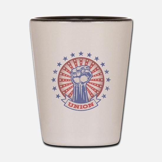 Union Fist -817 Shot Glass