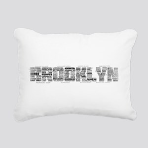 Brooklyn NYC Typographic Art Rectangular Canvas Pi