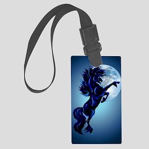 LargePosterRearing Stallion and  Large Luggage Tag
