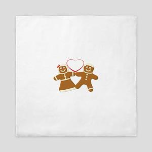 Ginger Bread Couple Art Queen Duvet