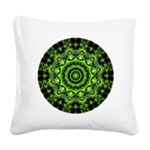 Forest Dome Mandala Square Canvas Pillow