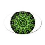 Forest Dome Mandala 35x21 Oval Wall Decal