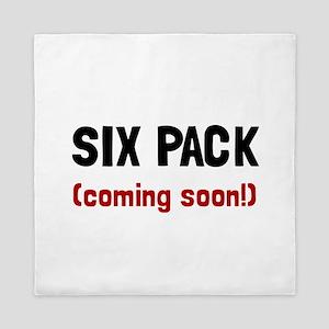 Six Pack Coming Queen Duvet
