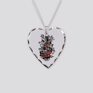 Born to Sing Necklace Heart Charm