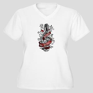 Born to Sing Women's Plus Size V-Neck T-Shirt