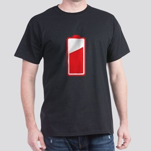 Half Cell phone Battery red T-Shirt