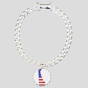 Delaware Flag Charm Bracelet, One Charm