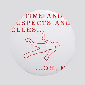 Homicide 3 Round Ornament