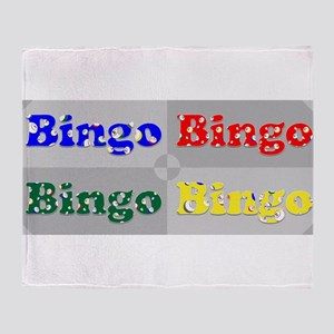 Bingo Four Ways Throw Blanket