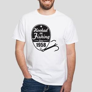 1958 Hooked on Fishing T-Shirt