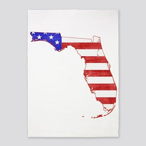 Florida Flag 5'x7'Area Rug