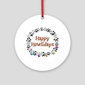 Happy Howlidays Ornament (Round)