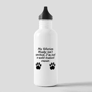 Well Trained Siberian Husky Owner Water Bottle
