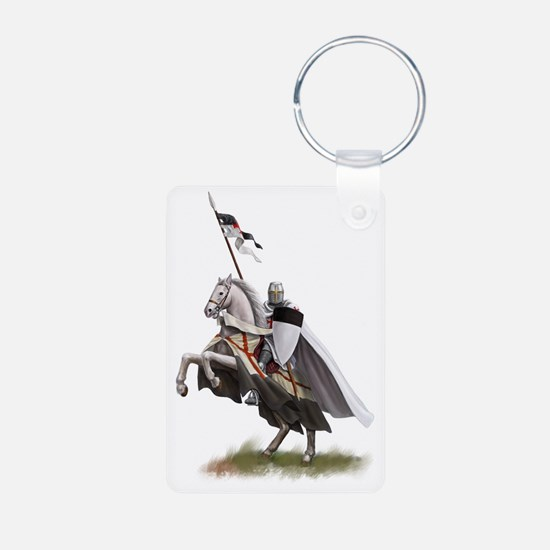 templar on rearing horse c Keychains