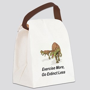 Exercise More, Go Extinct Less Canvas Lunch Bag