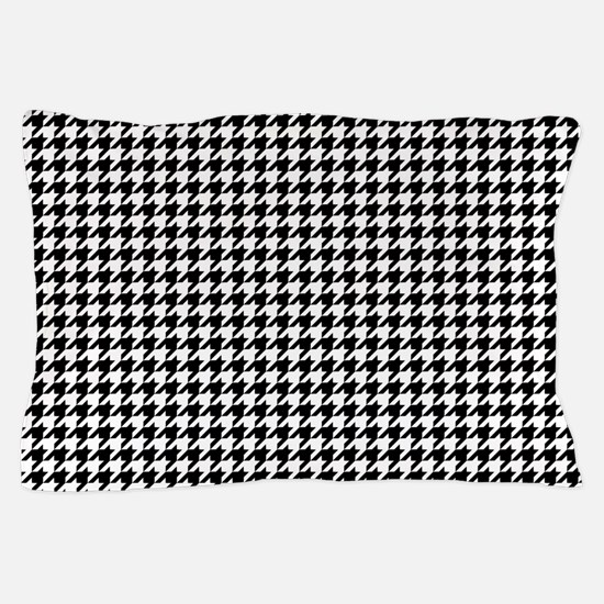 Houndstooth Pattern Black White Pillow Case