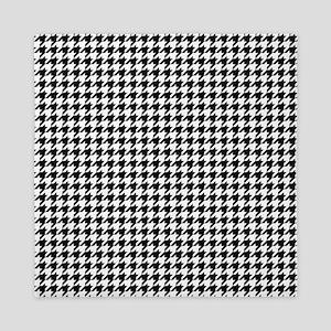 Houndstooth Pattern Black White Queen Duvet