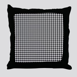 Houndstooth Pattern Black White Throw Pillow
