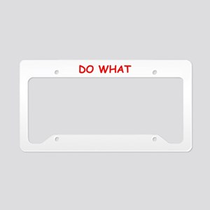 government License Plate Holder