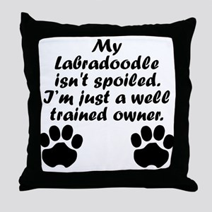 Well Trained Labradoodle Owner Throw Pillow