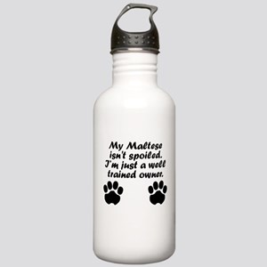 Well Trained Maltese Owner Water Bottle