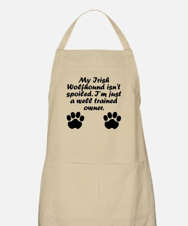Well Trained Irish Wolfhound Owner Apron