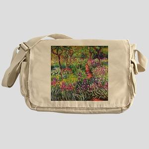 Iris Garden by Monet Messenger Bag