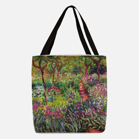 Iris Garden by Monet Polyester Tote Bag
