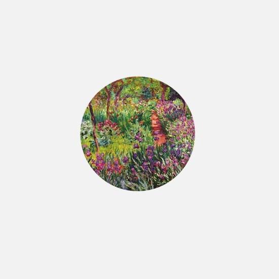 Iris Garden by Monet Mini Button