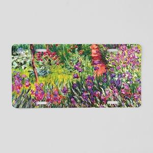 Iris Garden by Monet Aluminum License Plate