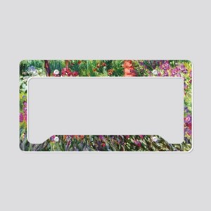 Iris Garden by Monet License Plate Holder