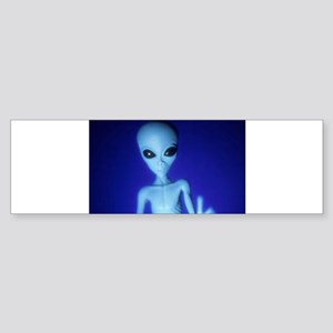 The Blue Alien Bumper Sticker