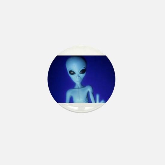 The Blue Alien Mini Button