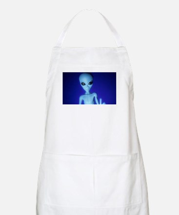 The Blue Alien Apron