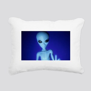 The Blue Alien Rectangular Canvas Pillow