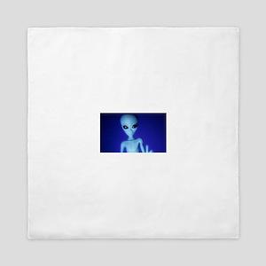 The Blue Alien Queen Duvet