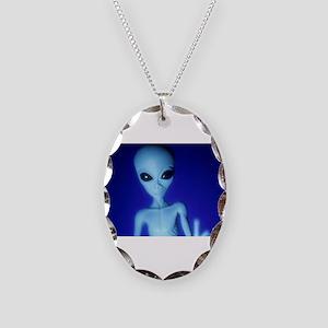 The Blue Alien Necklace