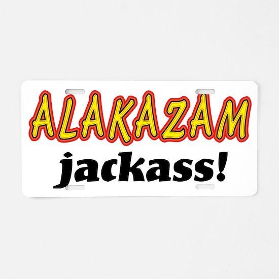 Alakazam_lite_crop Aluminum License Plate