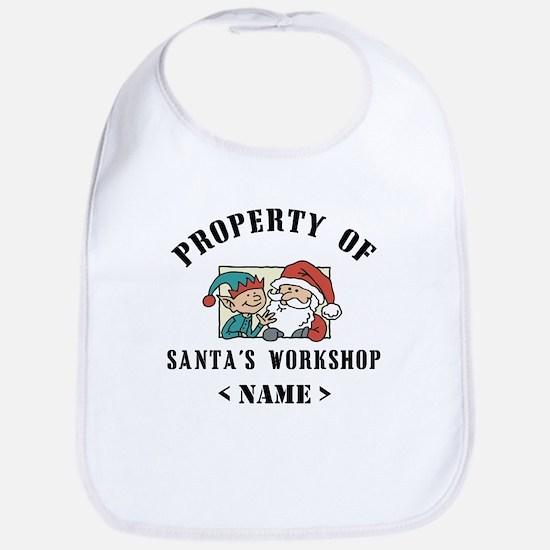 Personalize Property Santa's Workshop (Name) Bib